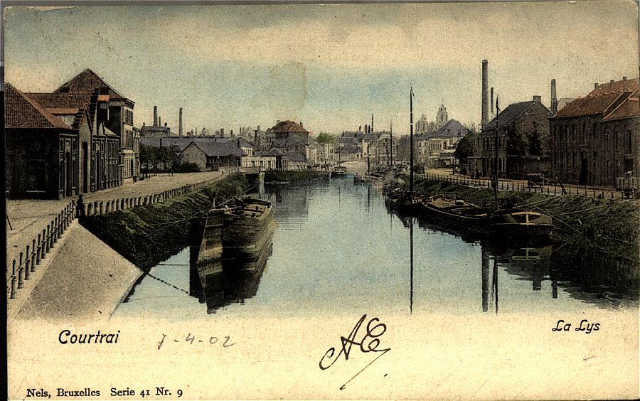 The Lys river at Kortrijk