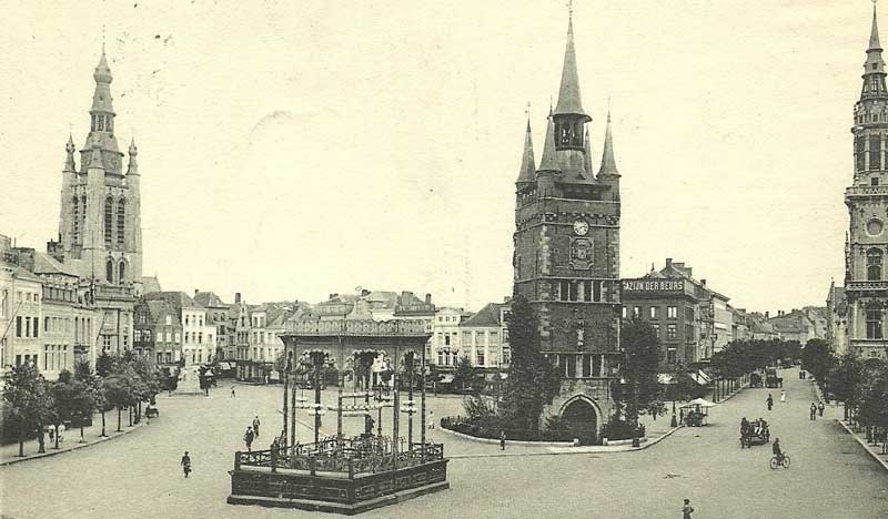 Kortrijk at the beginning of the 20th century