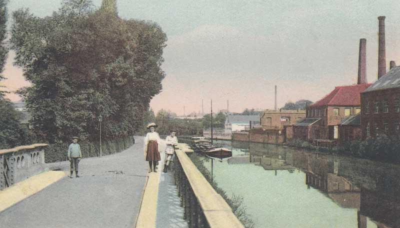 The Leie in Kortrijk (early 20th century)