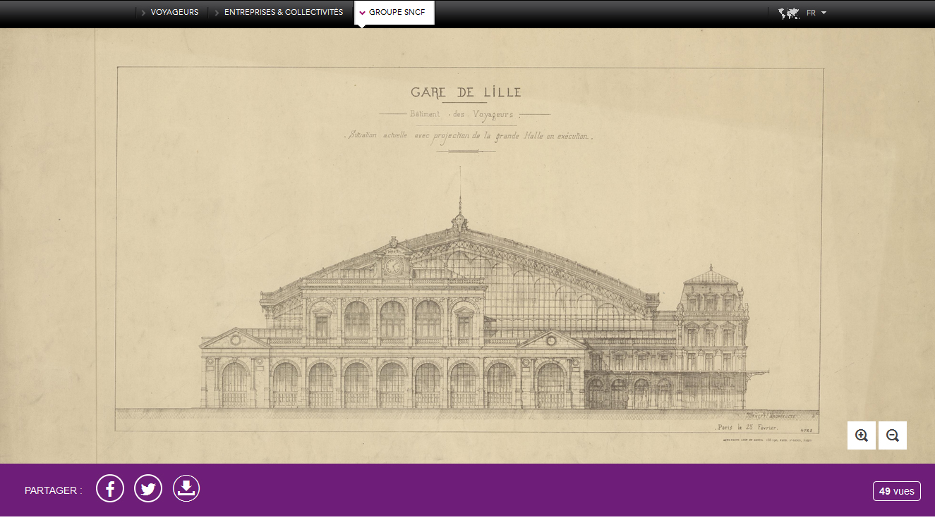 French railway archives online
