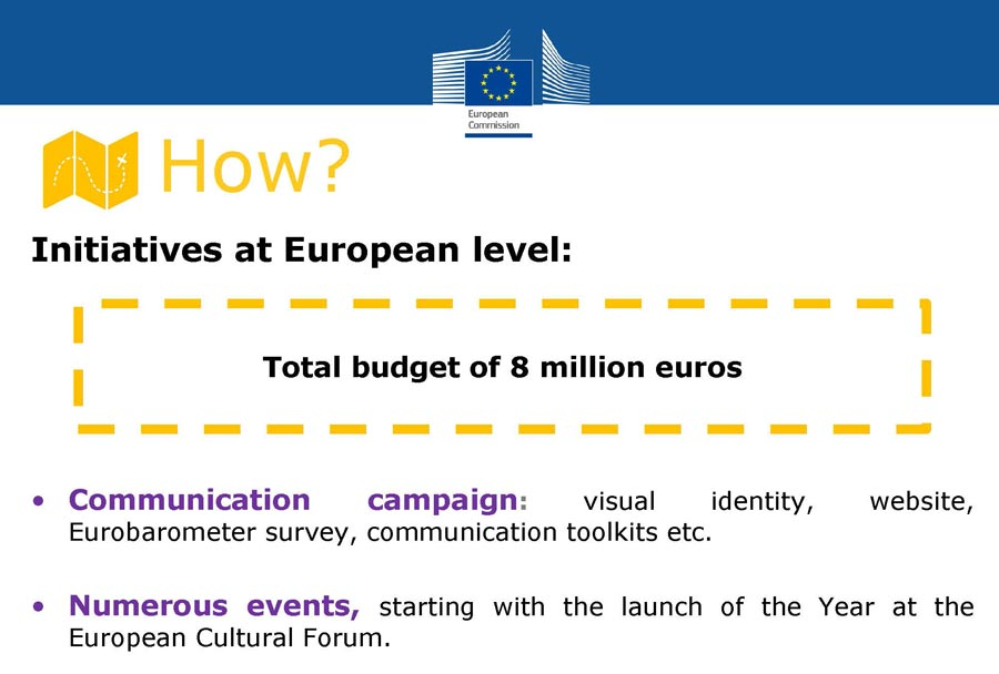 EU budget for the European Cultural Heritage Year 2018