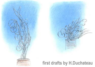first designs (drafts), by Hugo Duchateau