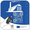 the Industriana-label with QR code