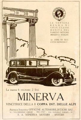 The famous Minerva cars