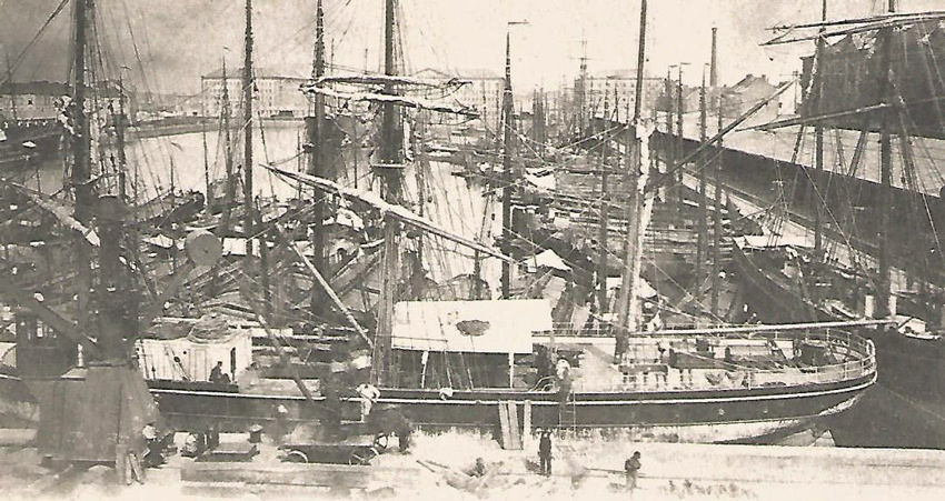 The Willem-dock at the beginning of the 20th c.